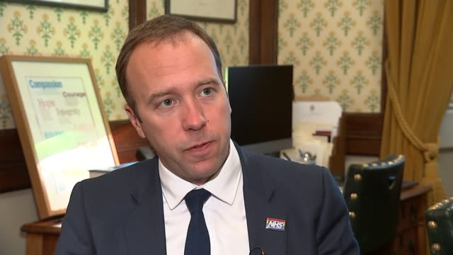 matt hancock pulls out of race as six candidates remain london uk matt hancock mp interview various shots of hancock including socks with 'this is... - out take stock videos and b-roll footage
