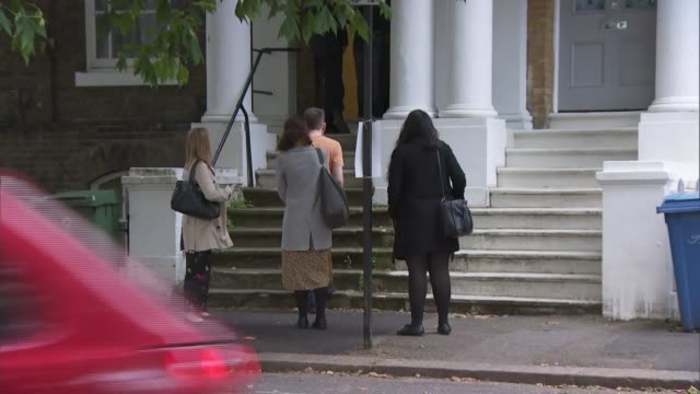 media outside boris johnson's home england london camberwell ext general views of the house where boris johnson mp lives with his partner carrie... - laptop stock videos & royalty-free footage