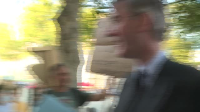 conservative party leadership contest: mps leave downing street after attending number 10 drinks reception; england: london: whitehall: ext... - alan duncan stock videos & royalty-free footage