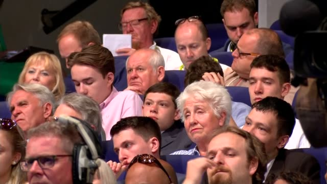 pressure mounts on boris johnson to explain incident with carrie symonds england birmingham audience sitting - midlands occidentali video stock e b–roll