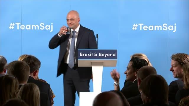sajid javid leadership campaign launch england london int sajid javid mp question and answer session sot part 1 of 4 - sajid javid stock videos & royalty-free footage