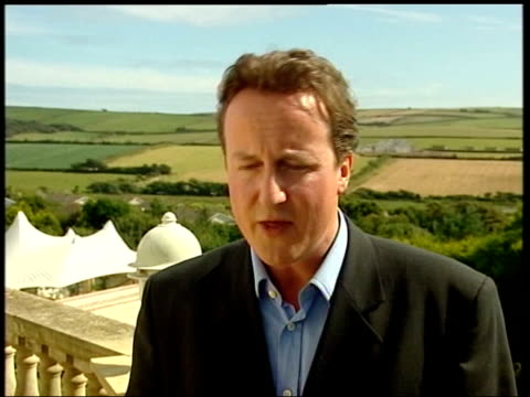 conservative party leadership contest speeches south west england david cameron mp speaking to film crew david cameron mp interview sot we ought to... - tighten stock videos and b-roll footage