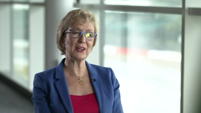 conservative party leadership contest: theresa may officially resigns as tory leader; uk, northamptonshire, silverstone circuit; andrea leadsom mp... - silverstone stock videos & royalty-free footage