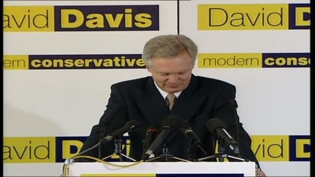 david davis press conference england london westminster photography*** david davis mp press conference sot re honest policies / uniting the party /... - conservative party uk stock videos and b-roll footage