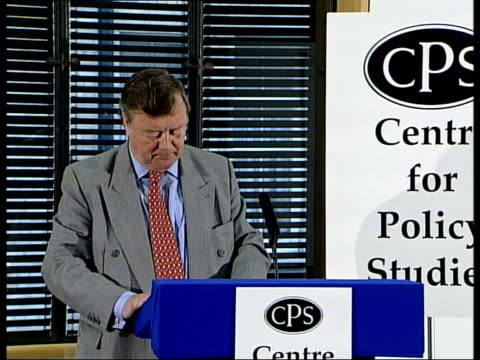 leadership race ken clarke attacks blair style of government kenneth clarke mp speech sot the checks and balances that should have restrained mr... - obsessive stock videos & royalty-free footage