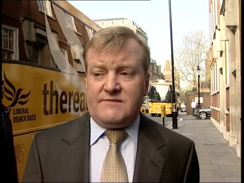 conservative party manifesto launched charles kennedy mp interviewed sot the figures don't add up its fantasy economics and it just won't wash with... - charles kennedy stock videos & royalty-free footage
