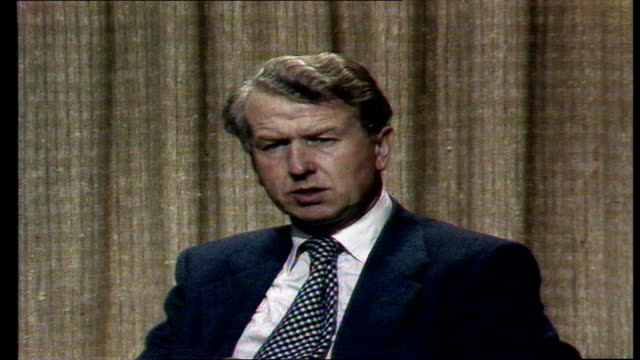 conservative party peter walker mp on edward heath and margaret thatcher england london westminster studio mp sof 'study the attitude tory party'... - edward heath stock-videos und b-roll-filmmaterial