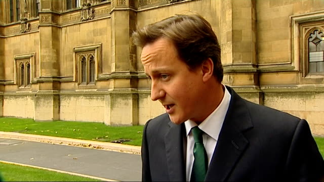Conservative Party proposals for helping small businesses David Cameron interview ENGLAND London EXT David Cameron MP interview SOT Well what we've...