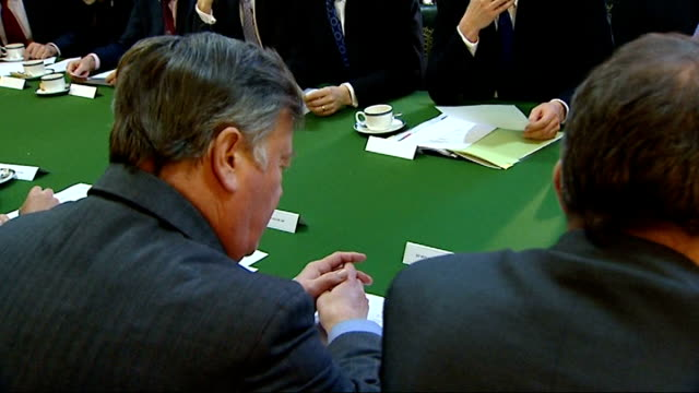 conservative party shadow cabinet meeting england london portcullis house 169 general views and close ups of the shadow cabinet meeting featuring... - liam fox politician stock videos and b-roll footage