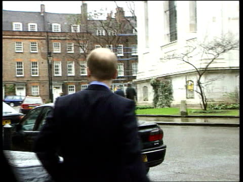 stockvideo's en b-roll-footage met shaun woodward defects to labour lib smith square conservative party leader william hague mp from conservative central office pan order ref... - william hague