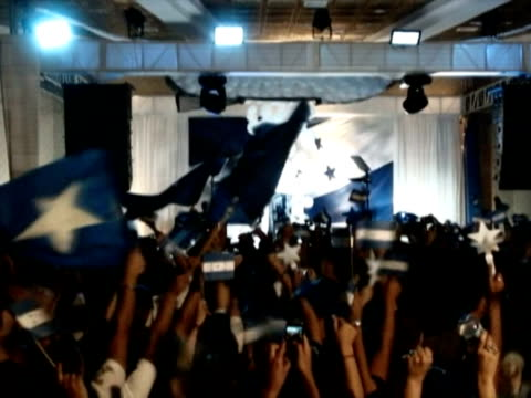 conservative porfirio lobo addresses supporters after claiming a large win in the controversial first presidential election in honduras since a june... - assertiveness stock videos & royalty-free footage