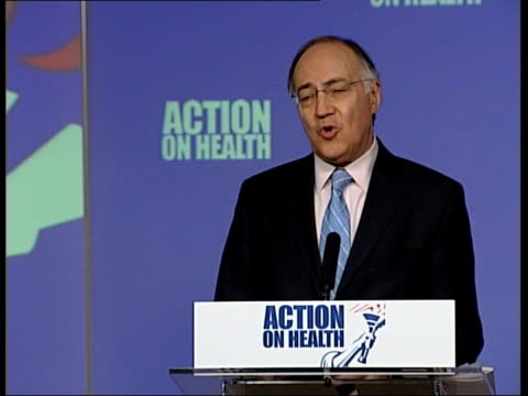 conservatives focus on mrsa michael howard mp speech sot whitehall targets prevent doctors and nurses closing wards they know to be infected with... - mrsa stock videos and b-roll footage