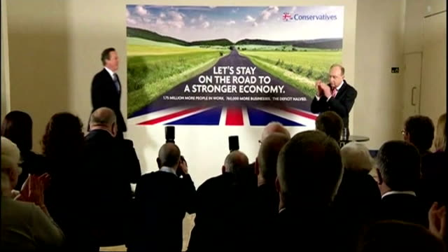 conservatives launch 'deficit' campaign poster england london westminster ext poster van carrying the first gneral election poster issued by the... - greater london stock videos and b-roll footage