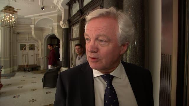 conservatives react to boris not standing england london ext general views of arrivals / david davis mp interview sot / boris johnson mp arrives... - mp stock videos & royalty-free footage