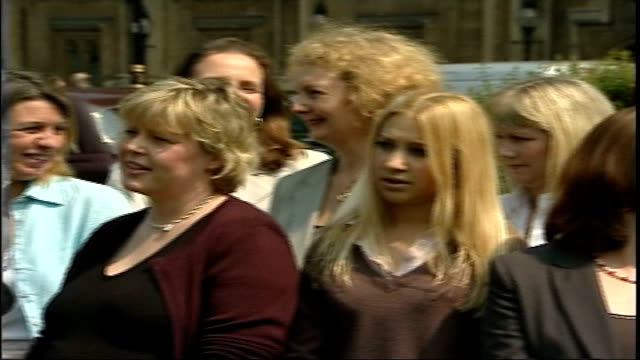conservatives unveil plans to boost number of women mp's london westminster female conservative councilors posing for photocall pan low angle shot of... - cathy newman stock videos & royalty-free footage