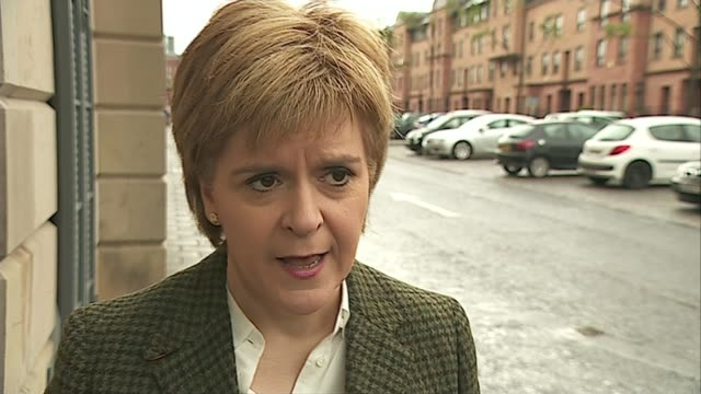 snp consider second referendum on scottish independence nicola sturgeon msp interview sot manifesto will set out circumstances that may lead to a new... - itv weekend lunchtime news点の映像素材/bロール