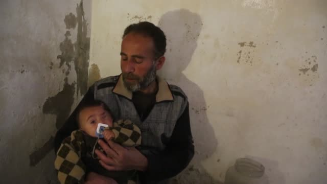 """Considered a symbol of resistance to Syria's Assad regime """"Baby Karim"""" who lost one eye to a regime airstrike – has taken shelter underground to..."""