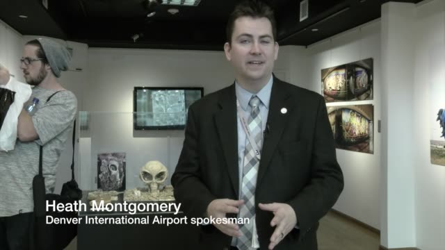 conspiracy theories about denver international airport have soared for more than two decades, owing to the airport's mix of bold public art, unusual... - conspiracy stock videos & royalty-free footage