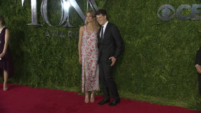 constance jablonski and guest at tony awards red carpet arrivals at radio city music hall on june 07 2015 in new york city - radio city music hall stock videos & royalty-free footage