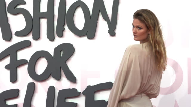 constance jablonski at fashion for relief fashion catwalk - the 71st cannes fillm festival at aeroport cannes mandelieu on may 13, 2018 in cannes,... - カンヌ・マンデリュー空港点の映像素材/bロール