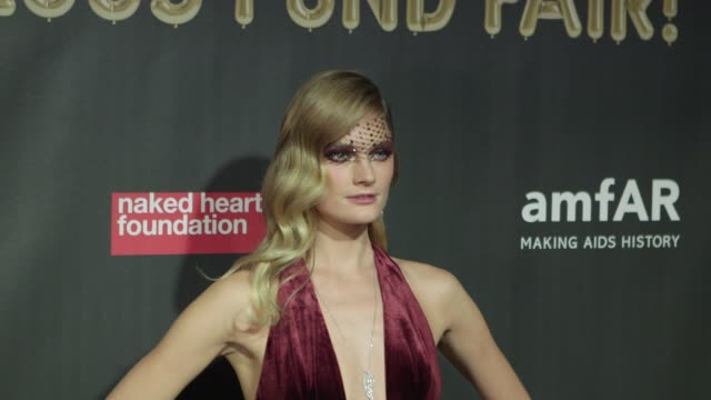 Constance Jablonski at Natalia Vodianova's Naked Heart Foundation to partner with amfAR in New York for Fabulous Fund Fair at Skylight Clarkson Sq on...