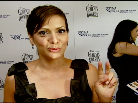 Constance Marie about the event and animal protection issues being huge at the 2008 Genesis Awards at the Beverly Hilton in Beverly Hills California...