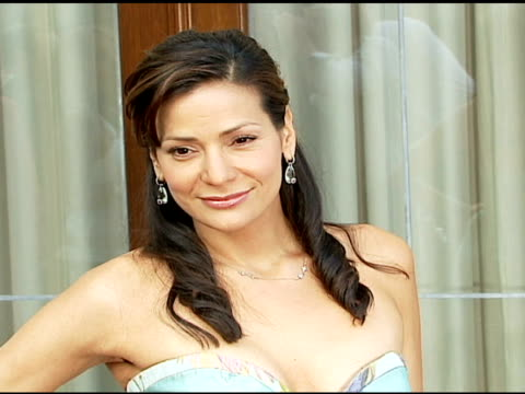 constance marie at the chrysalis' fifth annual butterfly ball at private residence in bel air, california on june 10, 2006. - chrysalis butterfly ball video stock e b–roll