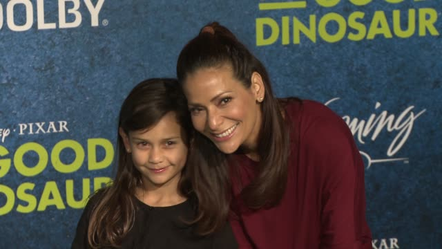 constance marie at the good dinosaur world premiere at the el capitan theatre on november 17 2015 in hollywood california - el capitan theatre stock videos and b-roll footage