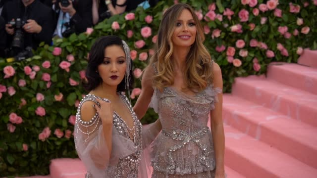Constance Wu and Georgina Chapman at The 2019 Met Gala Celebrating Camp Notes on Fashion Arrivals at Metropolitan Museum of Art on May 06 2019 in New...