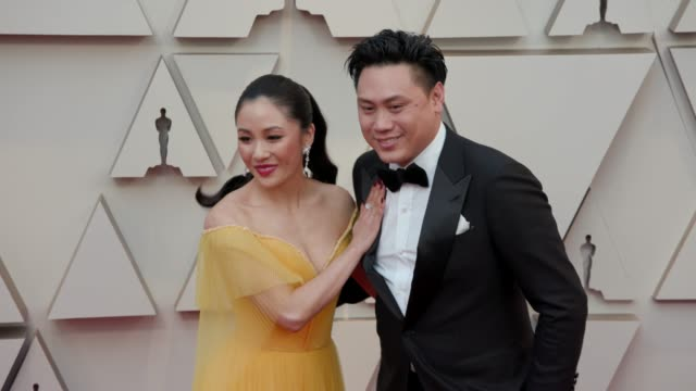 Constance Wu and Jon M Chu at the 91st Academy Awards Arrivals at Dolby Theatre on February 24 2019 in Hollywood California