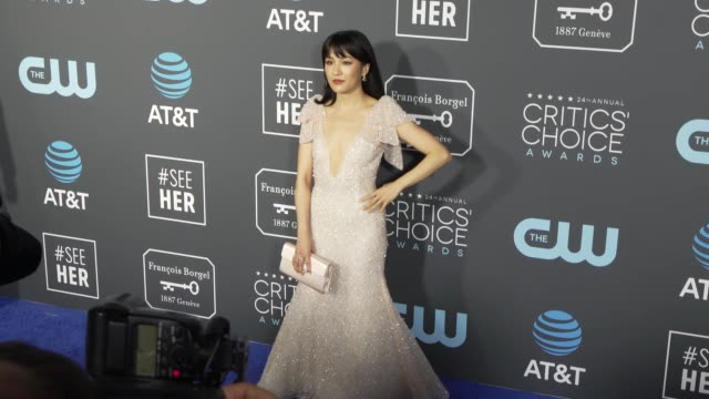 Constance Wu at the 24th Annual Critics' Choice Awards at Barker Hangar on January 13 2019 in Santa Monica California