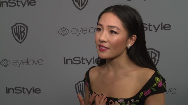 INTERVIEW Constance Wu at the Warner Bros Pictures and InStyle Host 19th Annual PostGolden Globes Party at The Beverly Hilton Hotel on January 7 2018...
