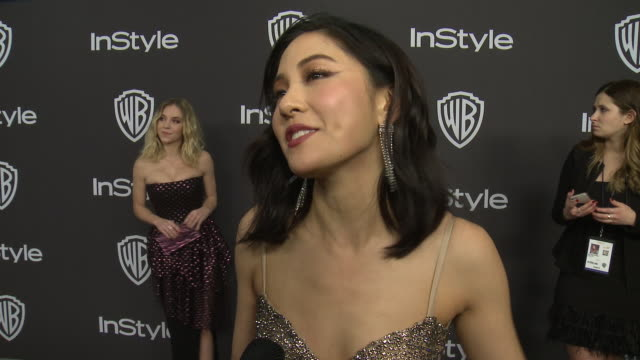INTERVIEW Constance Wu at Warner Bros and InStyle Host 20th Annual PostGolden Globes Party at The Beverly Hilton Hotel on January 06 2019 in Beverly...