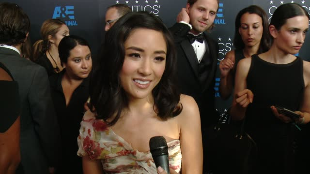 interview constance wu on being at the event at the 2015 critics' choice television awards at the beverly hilton hotel on may 31 2015 in beverly... - interview stock videos & royalty-free footage
