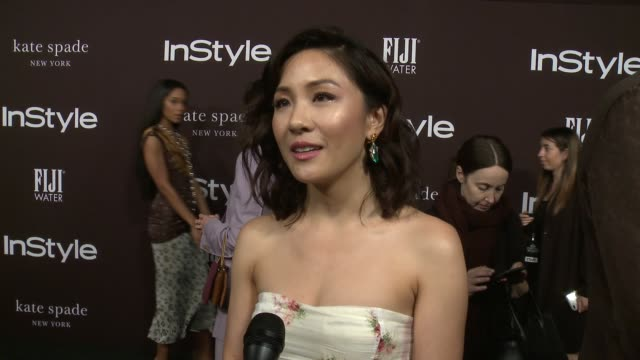 interview constance wu on what it means to receive this award from instyle the whirlwind that has been her life since the release of crazy rich... - interview stock videos & royalty-free footage