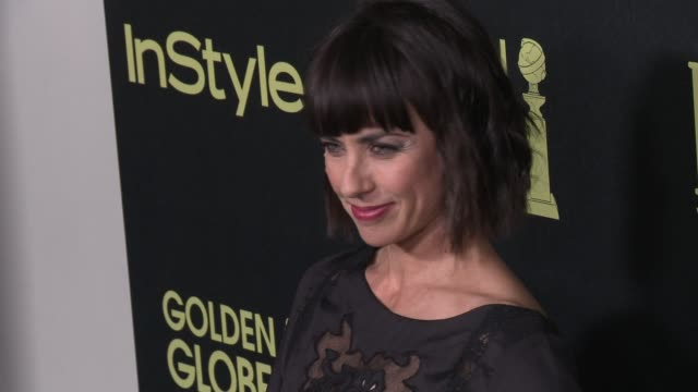 vídeos de stock e filmes b-roll de constance zimmer at the hollywood foreign press association and instyle celebrate the 2016 golden globe award season at ysabel on november 17 2015 in... - prémio globo de ouro