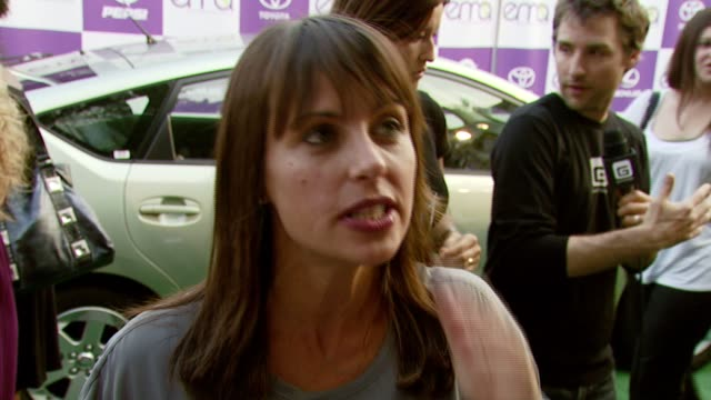 constance zimmer on the importance of attending the event and on how her views of environmental issues have changed since becoming pregnant at the... - wilshire ebell theatre stock videos & royalty-free footage