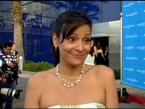 Constance Zimmer on why she's at the event talked about Entourage and a fashion ID at the 'Uncork A Wish' at The MakeAWish Foundation 13th Annual...