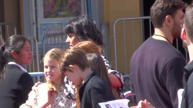 interview constance zimmer outside the wonder park premiere at the regency bruin theatre in westwood in celebrity sightings in los angeles - bruin theater stock videos & royalty-free footage