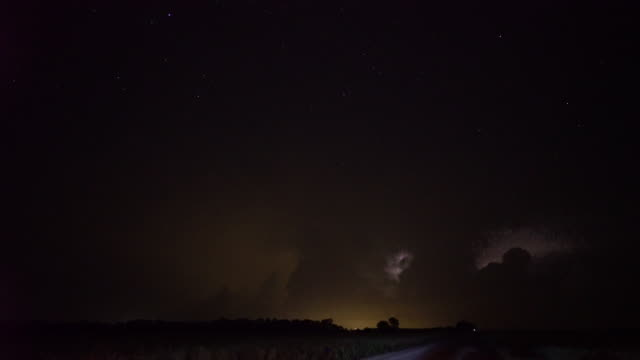 constant lightning flashes and lightning bolts shoot out of a cluster of tornado producing supercell thunderstorms near salina ks brilliant stars can... - storm cloud stock videos & royalty-free footage