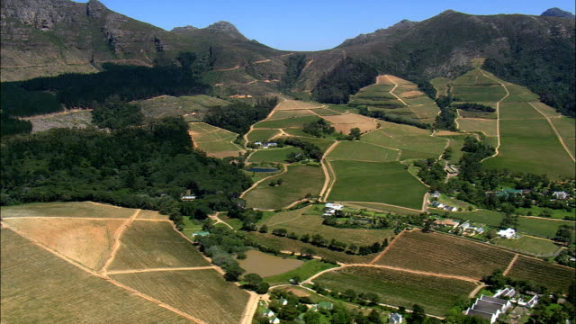 Constantia wine region - Aerial View - Western Cape,  City of Cape Town,  South Africa