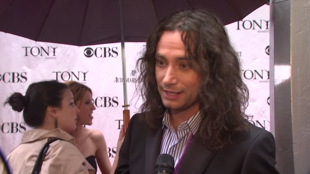 Constantine Maroulis on being excited to celebrate tonight and enjoy the evening without any pressure On Rock Of Ages' success and the tour they're...