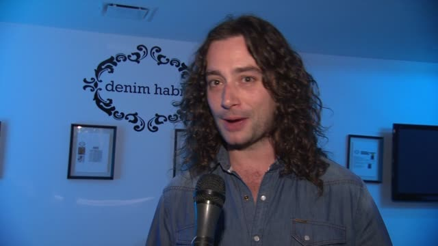 Constantine Maroulis on the Denim Habit mancave on working on the film version of Rock of Ages and his thoughts on XFactor at the Denim Habit NYC...