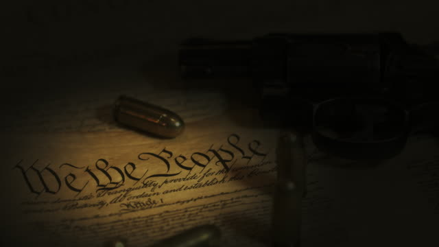 us constitution and gun - constitution stock videos & royalty-free footage