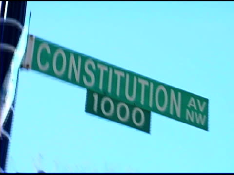 constitution avenue street name sign - street name sign stock videos & royalty-free footage
