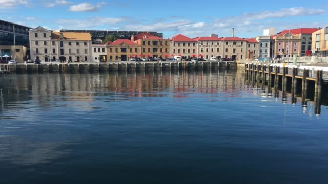 constitution dock in hobart tasmania australia - famous place stock videos & royalty-free footage