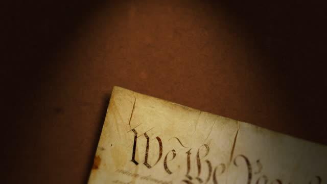 憲法,united states of america - アメリカ憲法点の映像素材/bロール