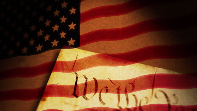 constitution, usa flag - patriotism stock videos & royalty-free footage