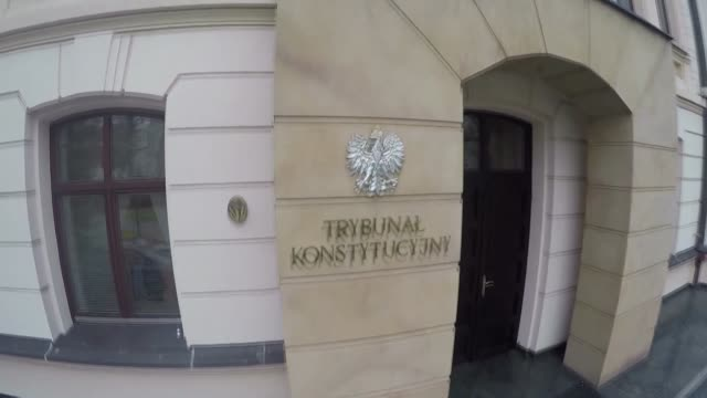 constitutional tribunal building in warsaw - warsaw stock videos & royalty-free footage