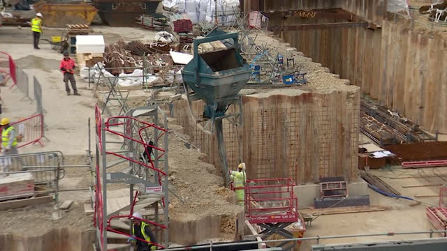 construction and building work at addenbrooke's hospital in cambridge, where new wards are being built - construction site stock videos & royalty-free footage